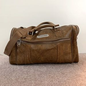 Vintage Brown Leather American Tourister 💼